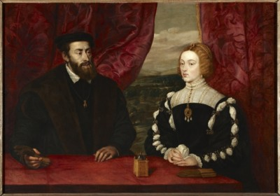 Peter Paul Rubens (Flemish, 1577–1640). Double Portrait of Charles V and Empress Isabella, ca. 1628. Oil on canvas, 44 15/16 x 65 1/2 in. Dukes of Alba Collection, Liria Palace, Madrid