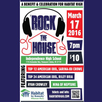 Rock the House: A Benefit and Celebration for Habitat High with Sarina-Joi Crowe, RIley Bria and more