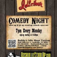 Bobby's Idle Hour Open Mic Comedy Night
