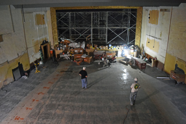 View of the 1925 Hall from the Projection Booth.
