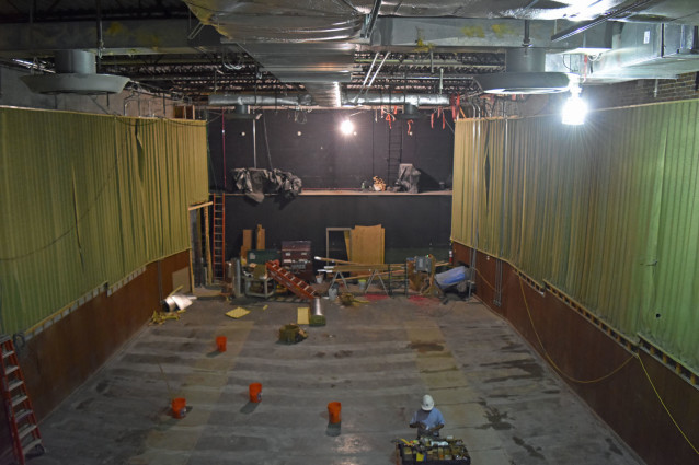View from the projection booth of the 1996 Hall.