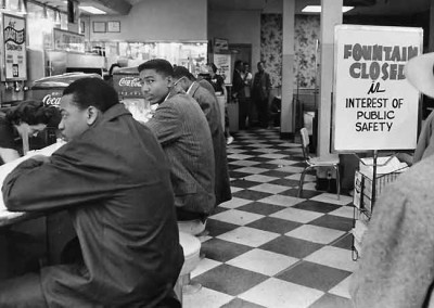 Students attempt to be served at Walgreen's, February 20, 1960. Photo by Jimmy Ellis, The Tennessean.