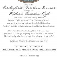 Battlefield Bourbon Dinner at Historic Travellers Rest