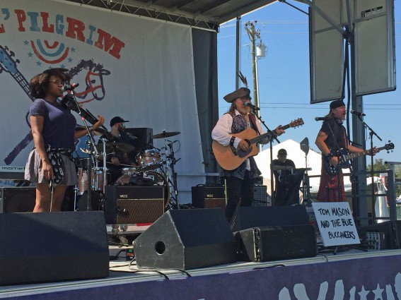 Tom Mason and the Blue Buccaneers at the Pilgrimage Music and Cultural Festival in September. Photo by Jessica Musman.