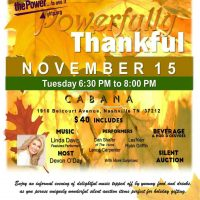 Powerfully Thankful Music Event & Silent Auction