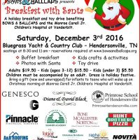 HolidayFest 10th Annual Breakfast with Santahosted by Bows & BallCaps