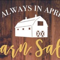 Always in April Barn Sale