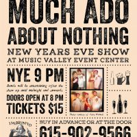 Inebriated Shakespeare's New Years Eve Much Ado About Nothing