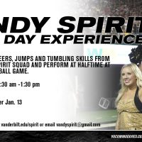Vandy Spirit 2017 Game Day Experience