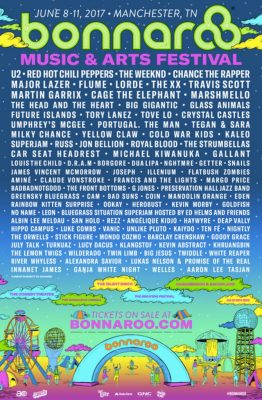 Bonnaroo Music and Arts Festival | U2, Red Hot Chili Peppers, The Weeknd, Chance the Rapper, Lorde, and more