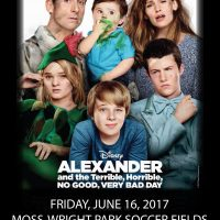 Movie in The Park - Alexander and the Terrible, Horrible, No Good, Very Bad Day