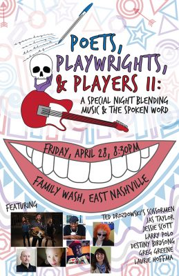 Poets, Playwrights and Players: Special Night Blending Music & the Spoken Word