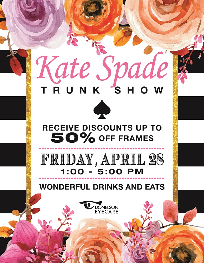 Kate Spade Frame Trunk Show presented by Donelson EyeCare ...