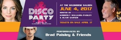 Kimberly Williams-Paisley & Blair Garner | Disco Party To End Alzheimer's ft. Brad Paisley & Friends