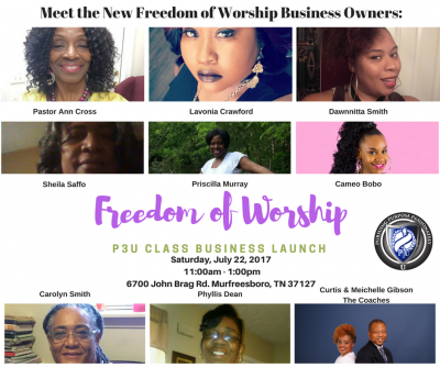 Freedom of Worship P3U Business Class Launch