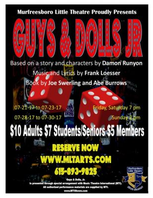 "Theatre production of ""Guys and Dolls"""