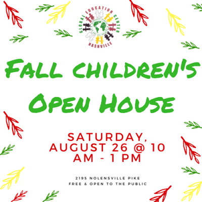 Fall Children's Open House with Global Education C...
