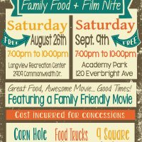 Family Food & Film Nite