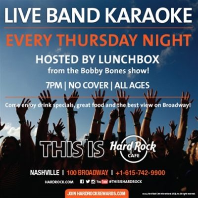 "LIVE BAND KARAOKE hosted by ""LUNCHBOX"" from the Bo..."