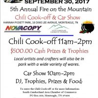 5th Annual Fire on the Mountain Chili Cook-off & Car Show