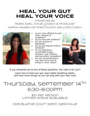 Heal Your Gut, Heal Your Voice