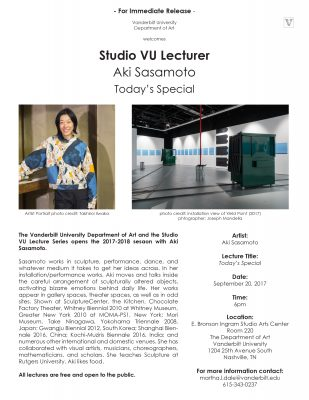 Vanderbilt Univ. Dept. of Art and Studio VU Lectur...