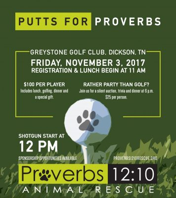 Putts for Proverbs Golf Scramble