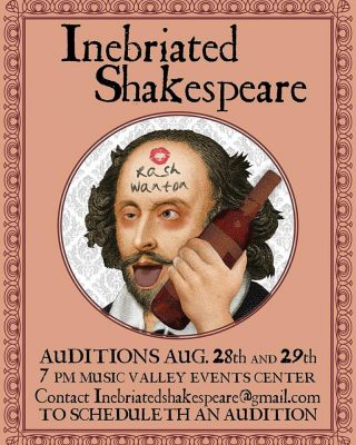 Auditions for Inebriated Shakespeare's A Midsummer...