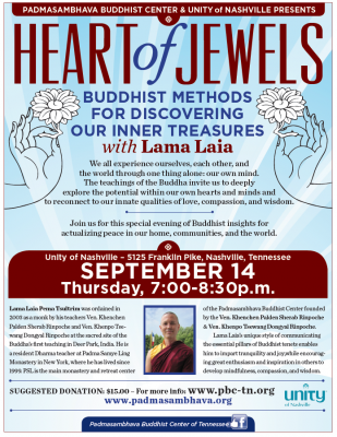 Heart of Jewels: Buddhist Methods for Discovering our Inner Treasures with Lama Laia