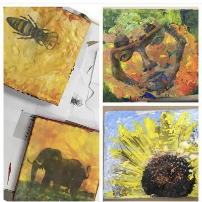 Encaustic Painting with Photo Transfer