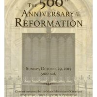The 500th Anniversary of the Reformation Concert