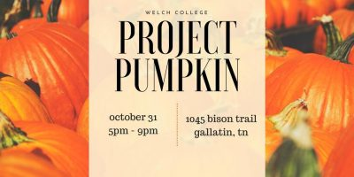 Project Pumpkin at Welch College