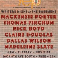 YEP Writers Night at The Basement