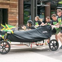 T.J. Martell Foundation's Downtown Derby Bed Race