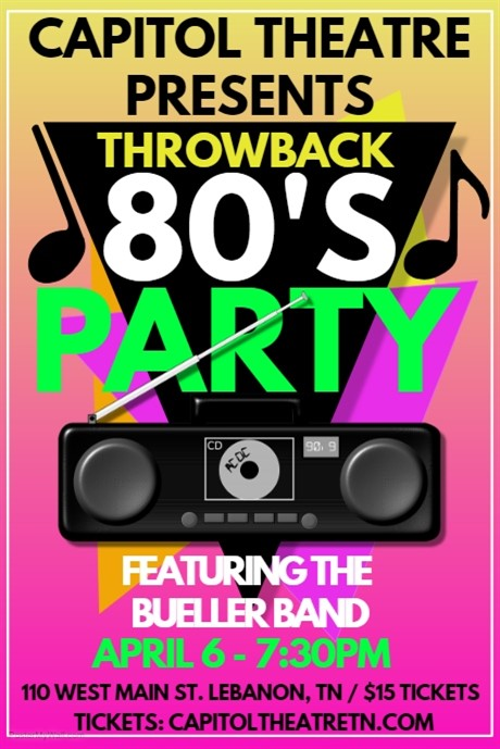 80's Night at the Capitol!