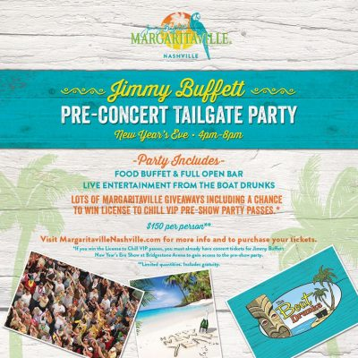 New Years Eve Pre-concert Tailgate Party at Margaritaville