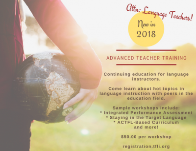 Language Teacher Workshop | ACTFL Can-Do Statements as Curriculum: How to Use it?