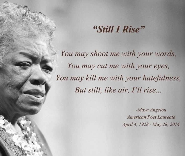 maya angelou s take on racial discrimination Dr maya angelou's passing must propel activists and the anti-racist we must continue to challenge the racial discrimination that restricts housing choices of.