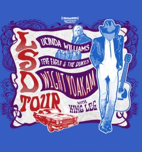 LSD Tour | Lucinda Williams, Steve Earle, Dwight Yoakam