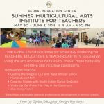 Summer Multicultural Arts Institute for Teachers