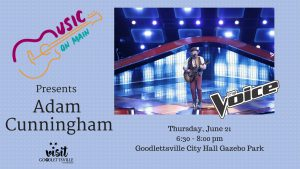 Music on Main Featuring Adam Cunningham from NBC'S...
