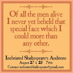 Inebriated Shakespeare Auditions