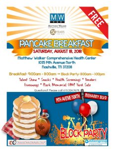 Pancake Breakfast and Block Party