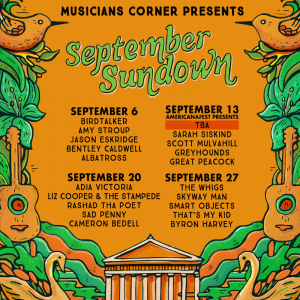 September Sundown feat. Cameron Bedell, Sad Penny, Rashad Tha Poet, Liz Cooper & The Stampede, and Adia Victoria