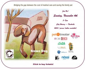 Annual Wine Dinner Gala to Benefit Brown Dog Found...