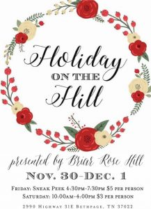 Holiday on the Hill Market