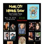 """Music City Hayride Show """"Honoring"""" our Veterans"""""""