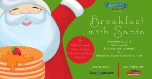 Breakfast with Santa Benefiting Bows and Ball Caps...