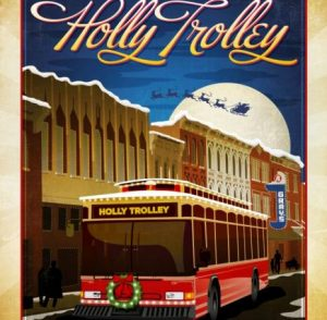 Holly Trolley Lights