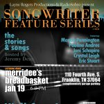 Songwriter Feature Series hosted by Jeremy Dean